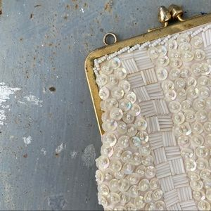 Vintage Hand Beaded Small Purse